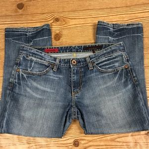 """AG """"The Superfly"""" Crop Jeans, Size 28R"""